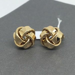 14K Yellow Gold Knot Style Stud Earrings